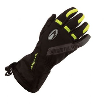 Richa Tundra Waterproof Motorcycle Glove - Black Yellow Fluo Small Extra Large